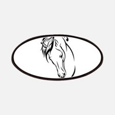 Line Drawn Horse Head Patch