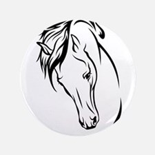 Line Drawn Horse Head Button
