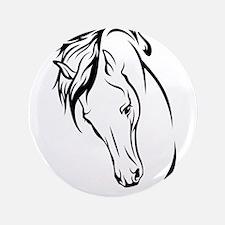 "Line Drawn Horse Head 3.5"" Button (100 pack)"
