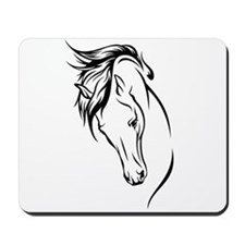 Line Drawn Horse Head Mousepad