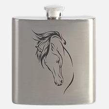 Line Drawn Horse Head Flask