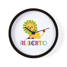 Alberto Loves Lions Wall Clock