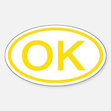 OK Oval - Oklahoma Oval Decal