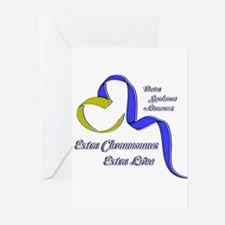 Down Syndrome Awareness Ribbon Greeting Cards (Pk