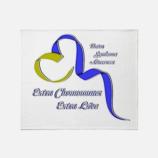 Down Syndrome Awareness Ribbon Throw Blanket