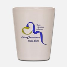 Down Syndrome Awareness Ribbon Shot Glass