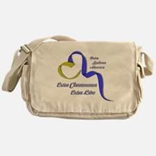 Down Syndrome Awareness Ribbon Messenger Bag