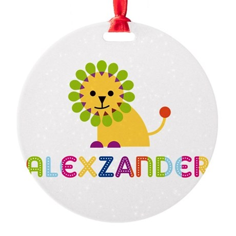 Alexzander Loves Lions Ornament