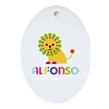 Alfonso Loves Lions Ornament (Oval)