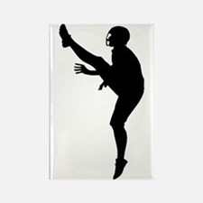 Football Silhouette Rectangle Magnet