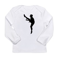 Football Silhouette Long Sleeve Infant T-Shirt