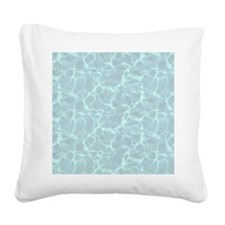 Blue Water Look Square Canvas Pillow