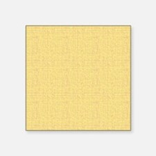 "Yellow Linen Look Square Sticker 3"" x 3"""