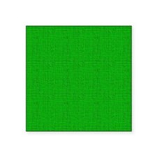 "Green Linen Look Square Sticker 3"" x 3"""