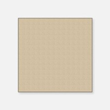 "Tan Linen Look Square Sticker 3"" x 3"""