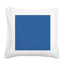 Dark Blue Linen Look Square Canvas Pillow