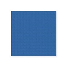 "Dark Blue Linen Look Square Sticker 3"" x 3"""