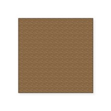 "Textured Brown Look Square Sticker 3"" x 3"""