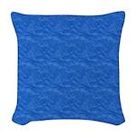 Textured Light Blue Look Woven Throw Pillow