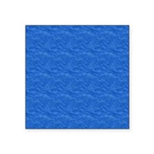 "Textured Light Blue Look Square Sticker 3"" x 3"""