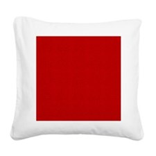 Red Linen Look Square Canvas Pillow