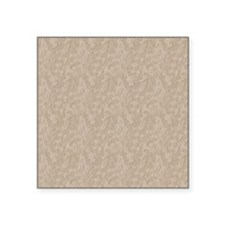 "Tan Cement Look Square Sticker 3"" x 3"""