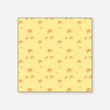 """Dark Yellow Cheese Look Square Sticker 3"""" x 3"""""""