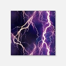 "White Lightning Look Square Sticker 3"" x 3"""