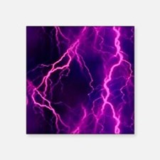 "Pink Lightning Look Square Sticker 3"" x 3"""