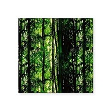 "Bamboo Forest Look Square Sticker 3"" x 3"""