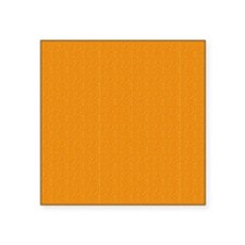 "Orange Linen Look Square Sticker 3"" x 3"""