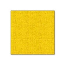 "Gold Linen Look Square Sticker 3"" x 3"""