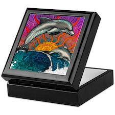 Dolphin Wave Keepsake Box