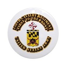 COA - 158th Cavalry Regiment Ornament (Round)