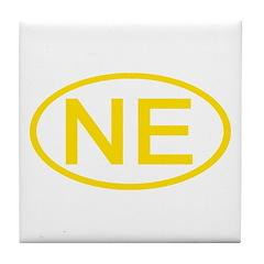 NE Oval - Nebraska Tile Coaster