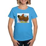 GL Wyandotte Rooster and Hen Women's Dark T-Shirt