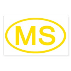 MS Oval - Mississippi Rectangle Decal