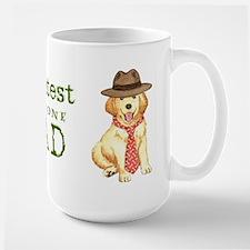 Golden Dad Large Mug