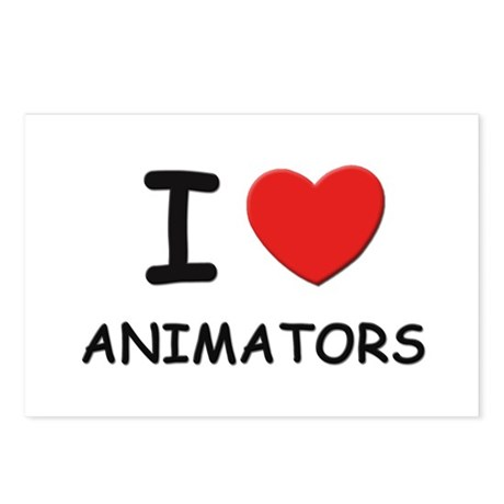 I love animators Postcards (Package of 8)