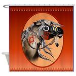SHOWER CURTAIN=Framed War Horse
