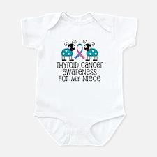 Thyroid Cancer Support Niece Infant Bodysuit