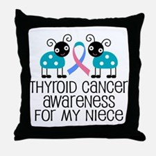 Thyroid Cancer Support Niece Throw Pillow