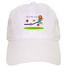 retired Math teacher retro birds Baseball Baseball Cap