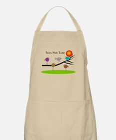 retired Math teacher retro birds Apron