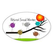 Retired Social worker A Decal