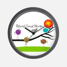 Retired Social worker A Wall Clock
