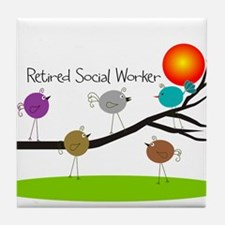 Retired Social worker A Tile Coaster