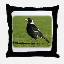 Australian Magpie 9P018D-039 Throw Pillow