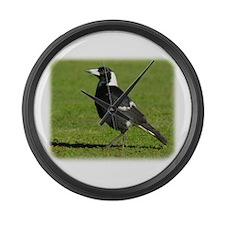 Australian Magpie 9P018D-039 Large Wall Clock