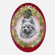 Pomeranian Christmas Oval Ornament